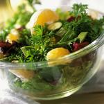 Fresh salad greens with citrus