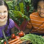 Kids love to pick fresh veggies!